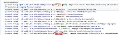 "Dansk Wikipedia - Versionshistorik for ""Access control list""   by Kim Bach"