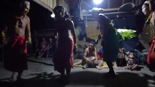 Mentawai dance after a feast