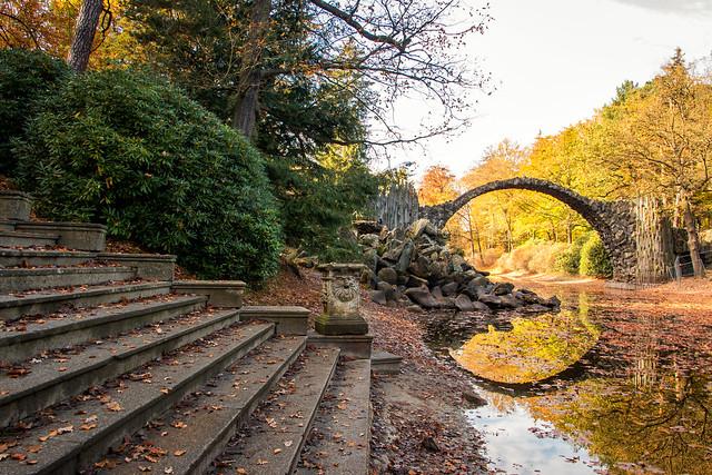 Rakotzbrücke in the autumn, other perspective