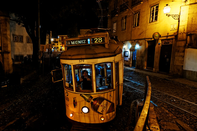 evening with trams