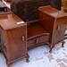 E110 dark wood chest