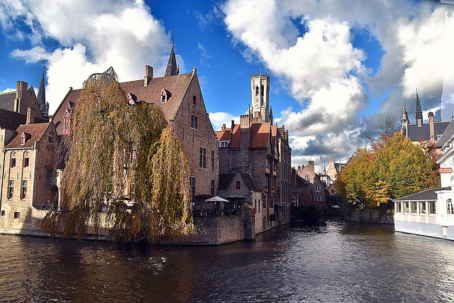 Picturesque point of view, Brugge, Belgium.