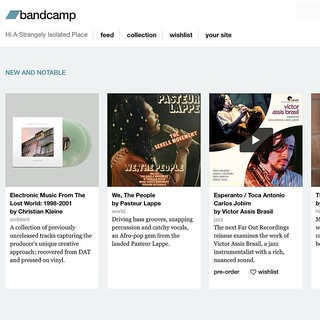 Very happy to see @bandcamp featuring Christian Kleine's a
