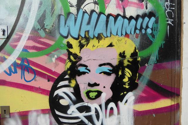 Whamm!!! stencil, Shoreditch