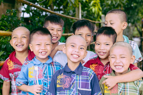 120 orphan children complete school semester successfully in Myanmar, enjoy fall holiday break; native team prepares for annual rice harvest | by Peace Gospel