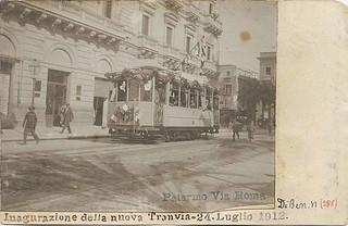 Palermo - via Roma - inaugurazione della nuova tranvia