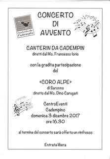 Programma di sala | by Coro Alpe di Saronno