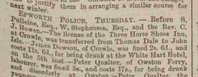 Lincolnshire Chronicle 20 March 1885
