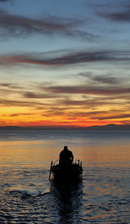 AGNONDAS. Le départ du pêcheur.