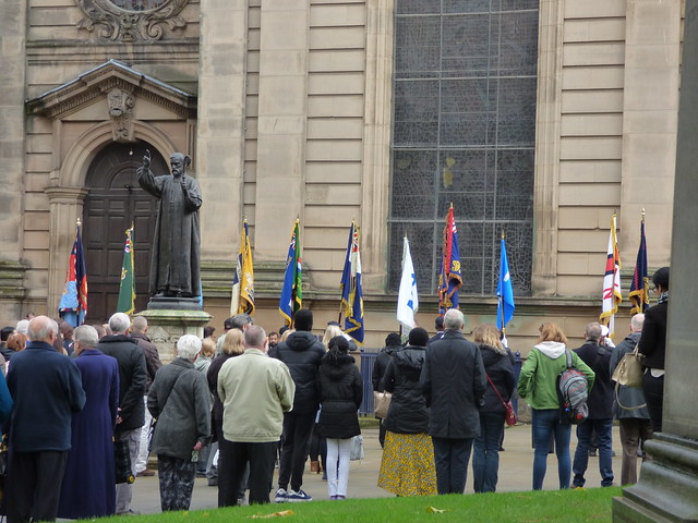 Armistice Day service outside St Philip's Cathedral