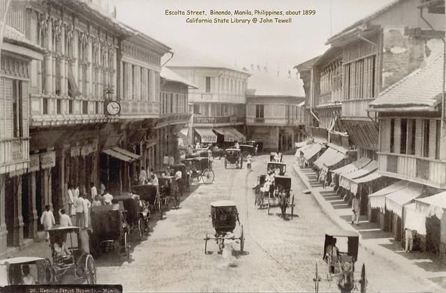 Escolta Street, Binondo, Manila, Philippines, about 1899