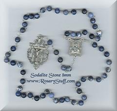 Sodalite Stone & Silver Plate Custom Rosary
