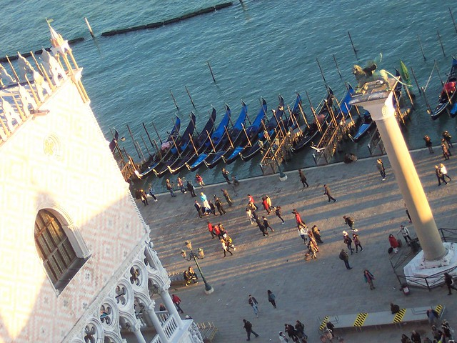 Gondolas and Doge's Palace - from the Bell Tower