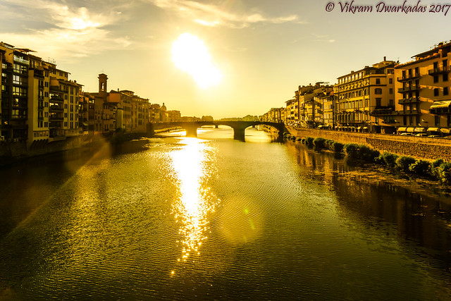 View from the Ponte Vecchio, Florence, Italy