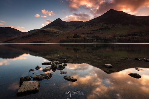 uk unitedkingdom cumbria lakedistrict buttermere sunset photography canon5dmark3 canon1635mm clouds explore sightseeing reflections