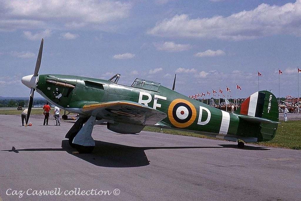 5377 (CF-SMI) CCF Hurricane XII in 303 Squadron markings