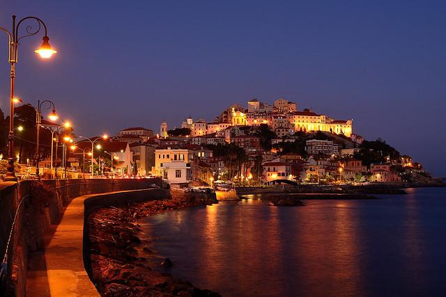 Porto Maurizio by night.