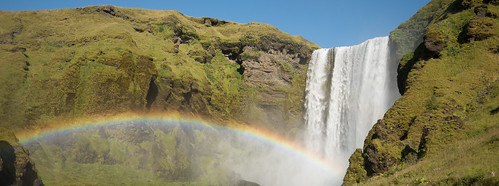 Skogafoss waterfall with rainbow | by pindari