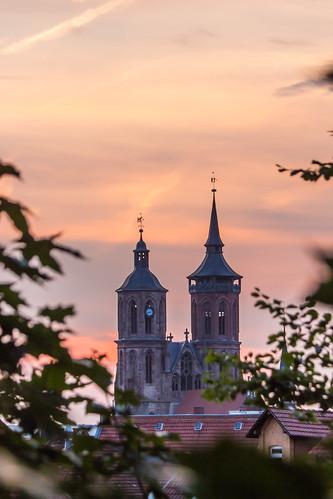 church kirche stjohannis sonnenuntergang sunset