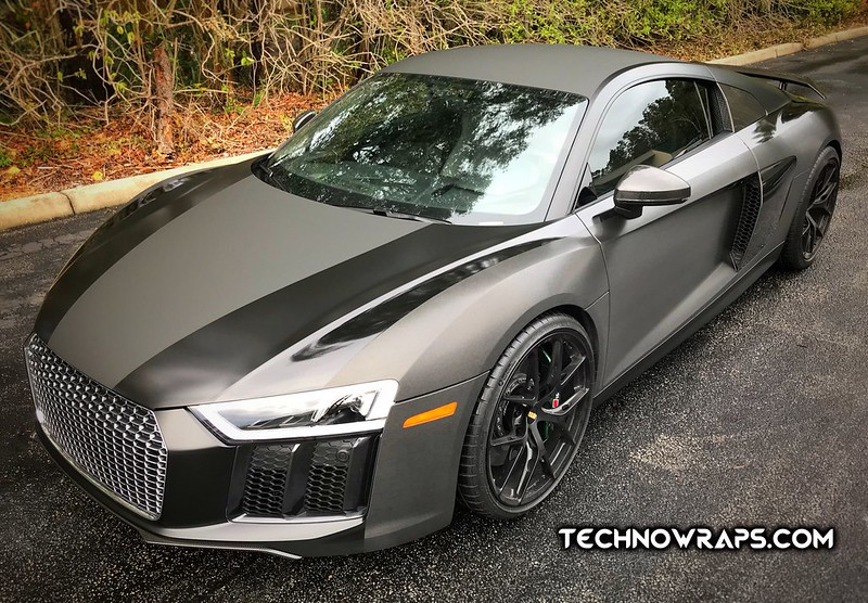 Audi R8 custom vinyl car wrap by TechnoWraps.com