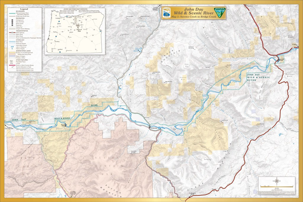 John Day Wild And Scenic River -- Map 1
