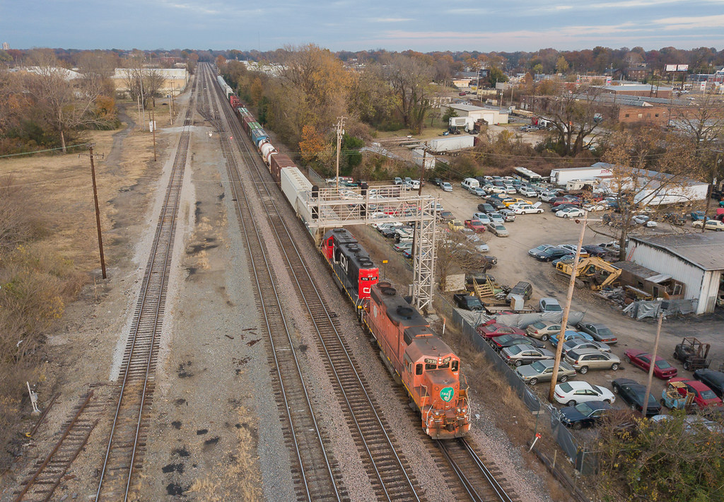 EJ&E 703 (EMD GP38-2) CN Train: RJY14 Memphis, Tennessee