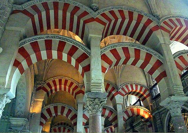 Arcos de la Mezquita de Córdoba. España.