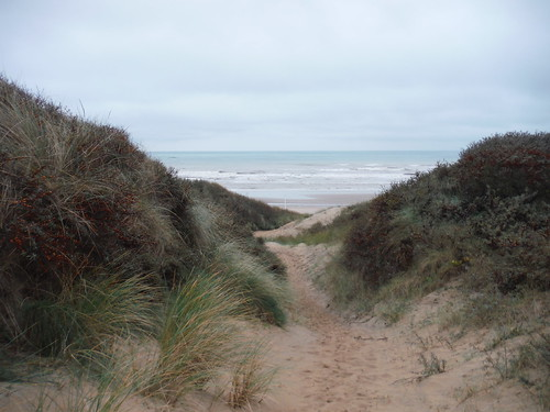 See the Sea through Sand Dunes in Camber SWC 154 - Rye to Dungeness and Lydd-on-Sea or Lydd or Circular
