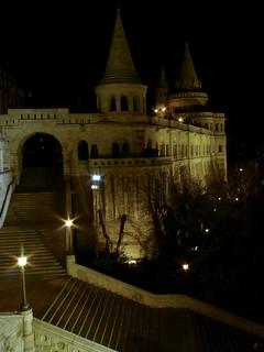 Budapest fishermans bastion night