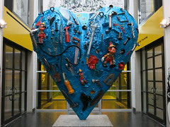 Blue heart in The Montreal Museum of Fine Arts
