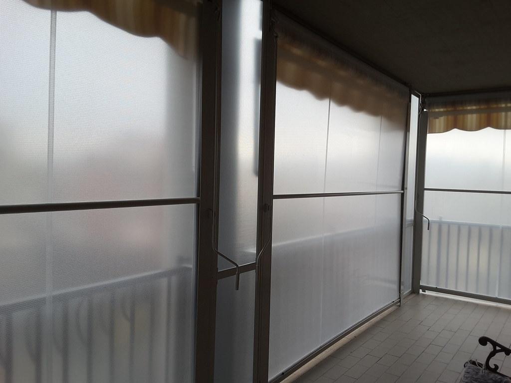 Tenda veranda invernale vista interna