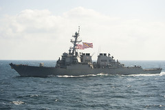 In this file photo, USS Hopper (DDG 70) operates in the Arabian Gulf, Nov. 28. (U.S. Navy/MCSN Daniel Pastor)