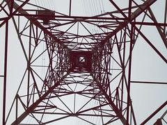 Electricity Pylon Girder Silhouette Electrical Grid Electricity  Cable Danger Grid Steel Below Pattern Tower Symmetry Power Supply Above Business Finance And Industry Concentric Fuel And Power Generation Arch Abstract