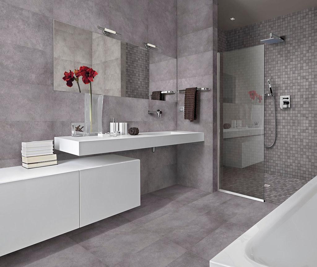 Bagno Moderno Con Vasca E Box Doccia In Muratura Floor