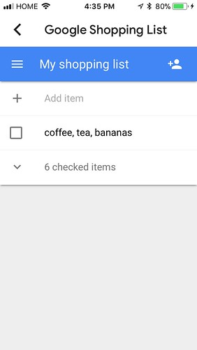 Unsuccessful attempt to get Google Home to add multiple items to my shopping list at the same time | by Beth77
