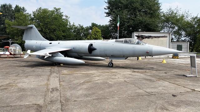 RF-104G Starfighter MM6634. Ex Italian-AF/ ITAF/ Aeronautica Militare. Preserved, Cameri Air-Base, Italy. 27-07-2016.