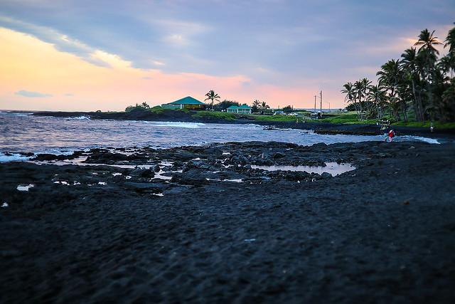 Black Sand Beach at Punalu'u