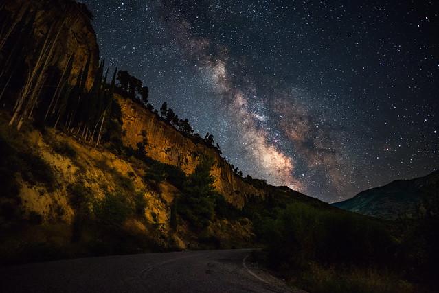 Milky Way in Greece