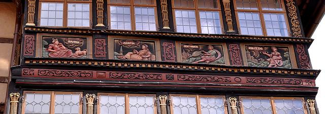 Hildesheim, Niedersachsen, Wernersches Haus, west face, top floor