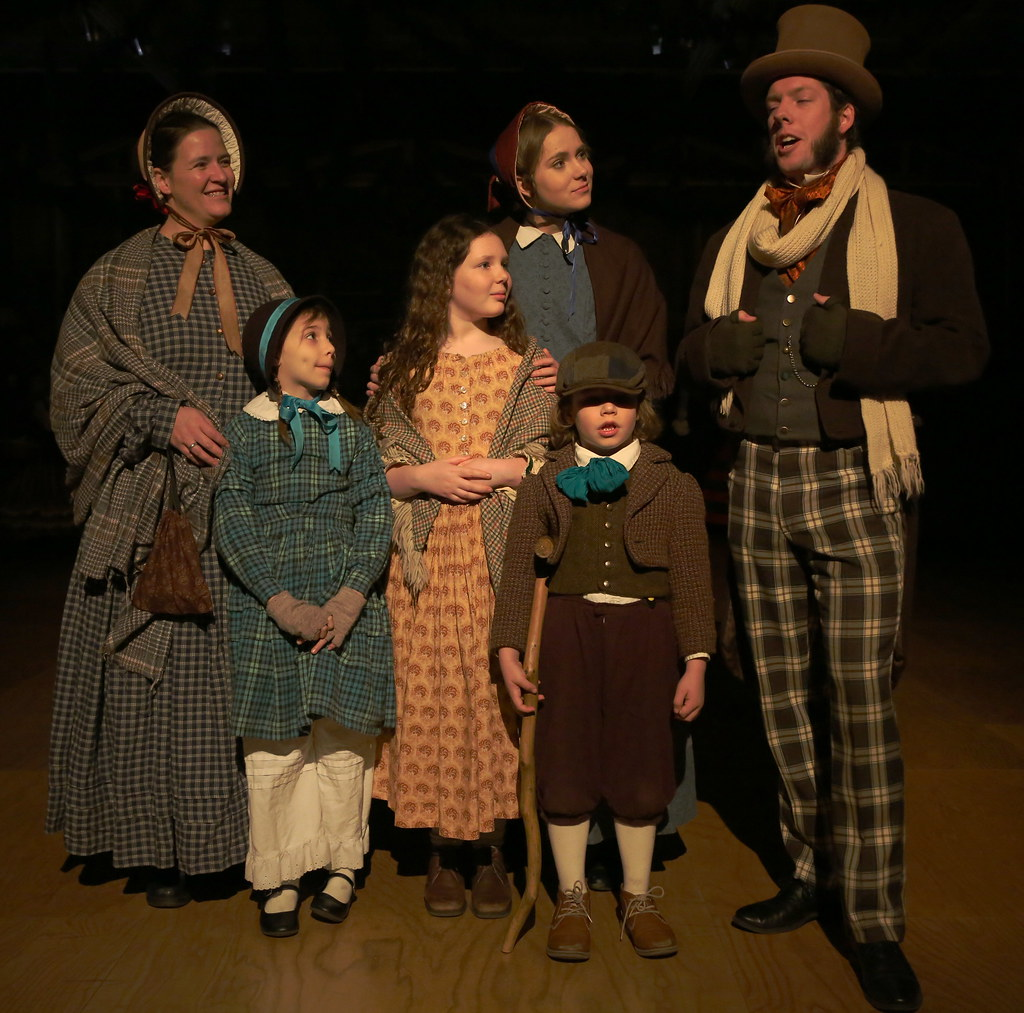 Tiny Tim A Christmas Carol.Mrs Cratchit Two Daughters Martha Cratchit Tiny Tim An