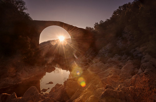 goldenhour golden gold landscape bridge sunset sunrise autum