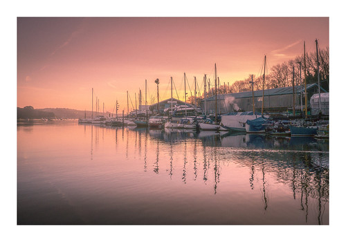 river penryn boats mooring dawn sunrise peaceful tranquil quiet water reflections cornwall cornish fineart