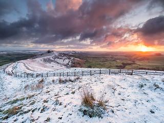 Winter sunrise on the ridge