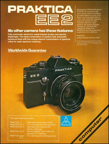 6146 fotomagazinitehnika practica ee2 quality product from gdrphotography anual international edition gdr photography praktica ee 2 producer data kombinat veb pentacon dresden responsible constructor rolf noack production period march 1977 1979