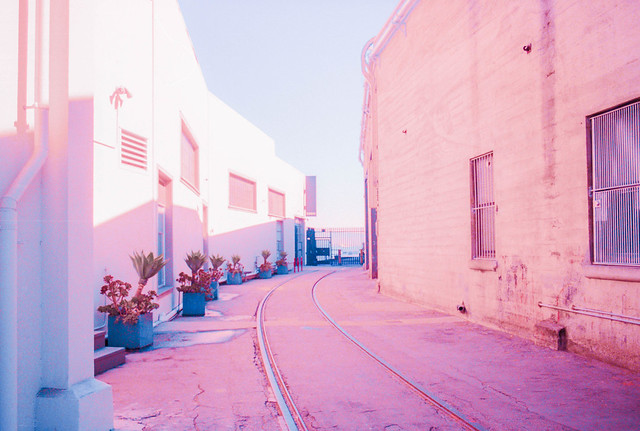 Pink Hues of a City's Textures