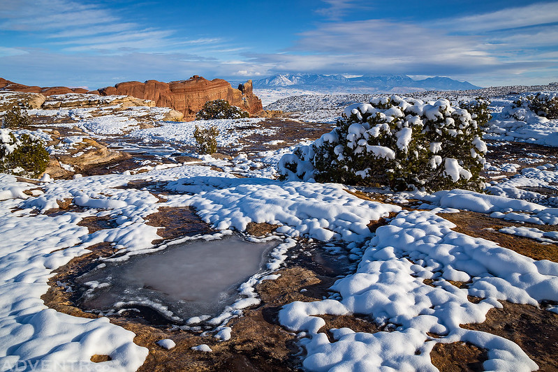 Snow-Covered Mesa