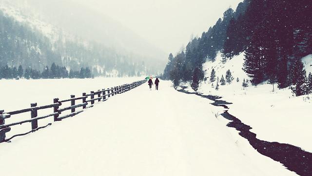 Passeggiando sulla neve ...