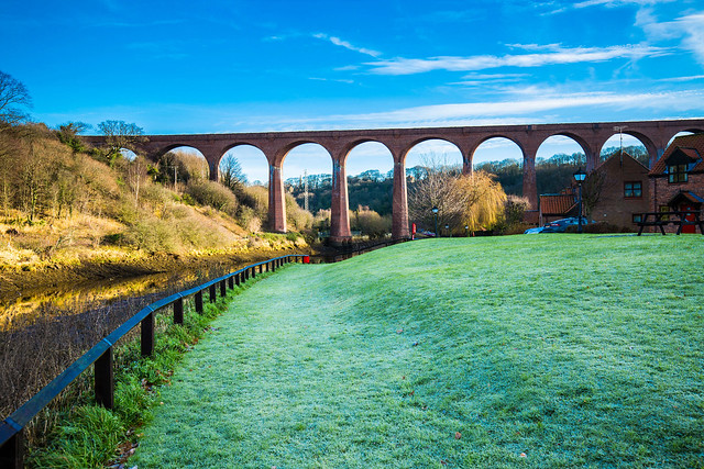 Larpool Viaduct on a cold and frosty morning