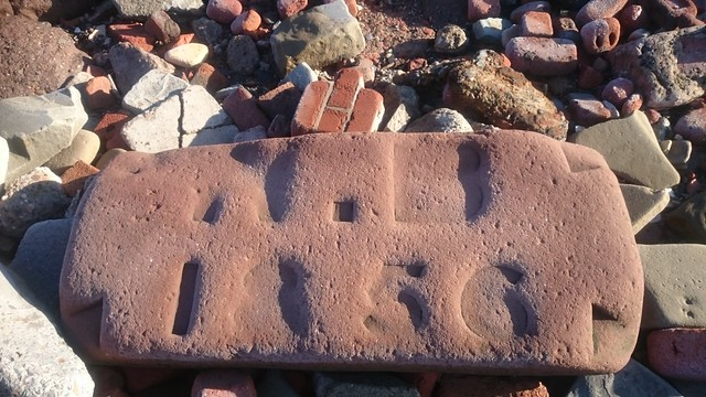 Bits of houses and civic buildings destroyed in WW2, used to shore up the coast around Crosby, Merseyside.