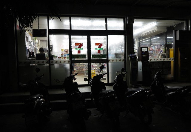 early morning at the 7/eleven